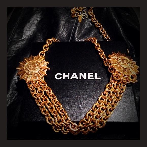991d8bdde CHANEL Accessories | 18kt Gold Plated Vintage Belt Necklace | Poshmark